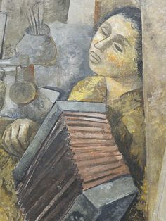 Lasar Segall (1891,Russie -1957,Brésil), Un atelier de peintre avec une accordéoniste, det-1937 | Flickr - Photo Sharing!