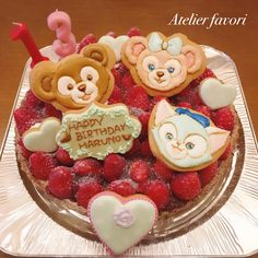 Duffy The Disney Bear, Cookie Decorating, Icing, Birthday Cake, Sweets, Cookies, Desserts, Food, Crack Crackers