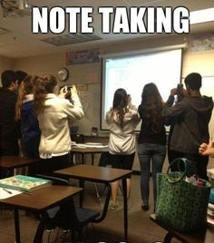 How students take notes today...so are you still wondering why mobile marketing is A MUST these days??? LOL!