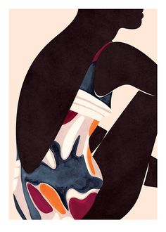 La Baignade at Sergeant Paper :). Black Girl Art, Black Art, Painting Inspiration, Art Inspo, Vintage Poster, Art Et Illustration, Giraffe Illustration, The Design Files, Art Design