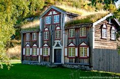 Folk Museum in northern Norway - photo by mylittlenorway; Many folk museums were built in the 1800s and exemplify life in rural Norway. The inside of most heritage buildings have also been restored to their original 1800s grandeur. ...and the roof still has sod...