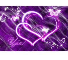 Purple Glow Hearts (Your favorite color) Purple Love, All Things Purple, Shades Of Purple, Pink Purple, Purple Hearts, Purple Stuff, Heart Wallpaper, Butterfly Wallpaper, Love Wallpaper