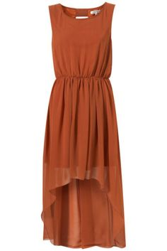 TOPSHOP Rare Sheer Chiffon Drape Dress