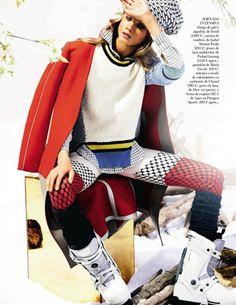 Anna Selezneva by Alexi Lubomirski for Vogue Spain January 2014