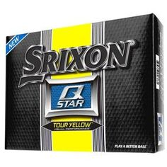 Srixon Q Star Tour Yellow Golf Balls - 1 Dozen $17.99
