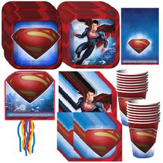 Superman Man of Steel Party Pack Supplies