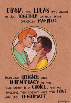 YES!! Diana & Lucas (anti-marriage as an institution) by Carol Rossetti | feminism
