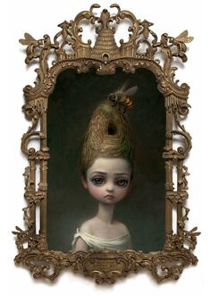 Queen Bee, Painting of a Lady With a Beehive Hairdo by Mark Ryden