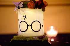 My Harry Potter centerpiece for my wedding :)   (Captured by North Island Photography)