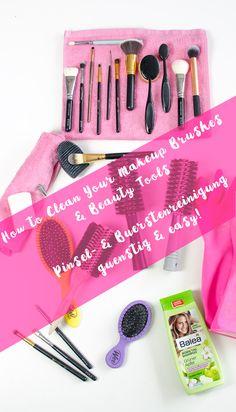 Easy budget ways to clean you makeup brushes & tools. Pinsel- & Bürstenwäsche leicht & günstig!