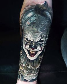 Pennywise IT Movie Tattoo | Best tattoo design ideas