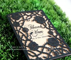 50 Personalized Wedding Thank You - Laser Cut Blank Card - Unique Custom Wedding Stationery Cards - Fairy Tale Wedding