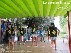 Otra de las divertidas representaciones del verano 2013. #camping #madrid