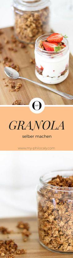 Amerikanisches Granola selber machen! Rezept für das weltbeste Knusper Müsli! -Homemade- Das Frühstück für die nächsten Tage ist gesichert :)