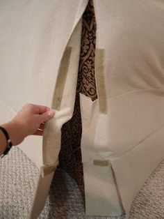 leave some of the seams of the cover un-sewn, then use velcro to close it tightly after & get a better fit.