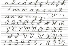 PsicopedagogiaCritica: La letra cursiva