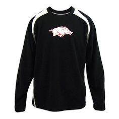 Arkansas Razorbacks Men's Black Genuine Raglan Long Sleeve Shirt