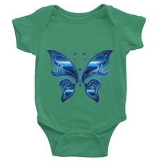 Hipnotic Blue Butterfly Baby Bodysuit