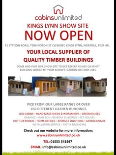 New show site for sheds in Terrington.