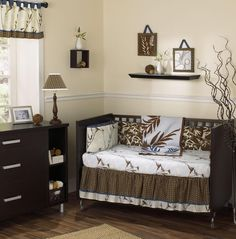 baby boy rooms | And then buy a chocolate brown comforter that matches the brown that ...