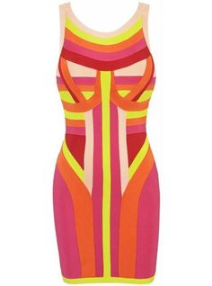 Mixed Color Sexy Bandage Dress H465 @Eve Ringers @Kellie Clark @Elin Gulbrandsen @Designer for Sure (by Puja Wahi)