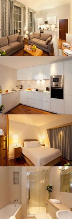 These serviced apartments are in Bloomsbury, a five minute walk from Russell Square underground station and a 15 minute walk from Euston, Kings Cross and St Pancras railway stations. Here are Tavistock Place Apartments, Euston, London.