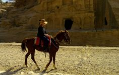 I'm playing Indiana Jones in Petra. #travel #wanderlust #adventure #indianajones #petra #jordan #horsebackriding