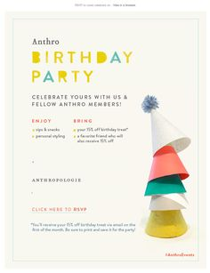 Birthday party email 2014 Anthro