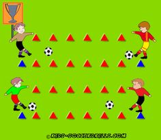 Passing - The Professional Soccer Player - Kids Soccer - Soccer drills for kids from to - Soccer coaching with fantasy Discover a great training to improve your soccer skills. This helped me and also helped me coach others to be better soccer players Soccer Practice Drills, Soccer Drills For Kids, Football Drills, Soccer Skills, Youth Soccer, Toddler Soccer, Soccer Coaching, Soccer Training, Soccer Workouts