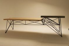 Gore Design modern table wood concrete steel