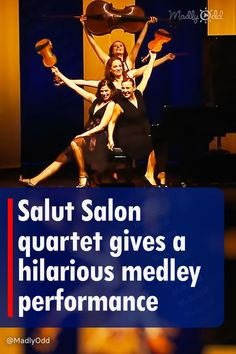 Salut Salon, an all-female string quartet, delivered an outstanding performance to its audience by combining several songs into one hilarious performance. It's quite an interesting way to share their talent with the world. #salutsalon #music #talent #funny Live Music, Good Music, Mack The Knife, Tv Theme Songs, Tv Themes, String Quartet, Hilarious, Funny, Classical Music