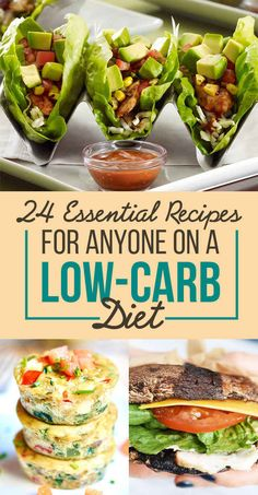24 Essential Ideas for Low Carb Eating #healthy #atkins #weightloss