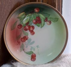 Hand Painted Cherries on a Signed Favorite by PlaidWolfCuriosities, $29.95