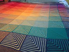 Ravelry: ack's Hue Shift Afghan Love the colour changes