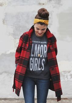 """Her sweatshirt says """"I'd rather be watching Gilmore Girls """". Nuff said!!!!"""