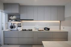 Check out this Minimalistic-style HDB Kitchen and other similar styles on Qanvast. Kitchen Room Design, Best Kitchen Designs, Kitchen Cabinet Design, Modern Kitchen Design, Living Room Kitchen, Kitchen Layout, Home Decor Kitchen, Interior Design Kitchen, Kitchen Colors
