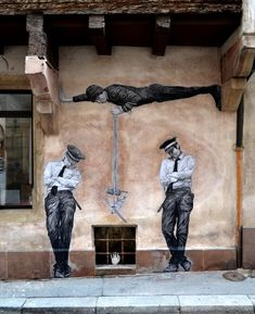 Dear art lover, today we are going to present to you Funny Art Installations By Levalet. The Beyonce of street art, this contemporary artist is turning the sad 3d Street Art, Urban Street Art, Murals Street Art, Best Street Art, Amazing Street Art, Street Art Graffiti, Street Artists, Urban Art, Graffiti Artwork