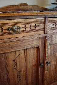 Willow Wisp Cottage: Refinishing my Sideboard: An exercise in uncertainty