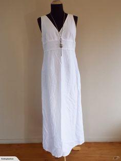 Esprit | White Pin-tuck Waist Dress (12-14) | Trade Me Lovely Dresses, Formal Dresses, Close Up Photos, Pin Tucks, White Dress, Fashion Outfits, Fashion Design, Formal Gowns, White Dress Outfit