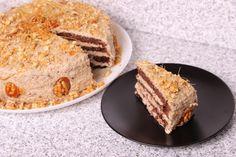 Tort de cacao cu nucă Tasty, Yummy Food, Tiramisu, Banana Bread, French Toast, Food And Drink, Sweets, Cookies, Breakfast