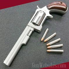 Gun Websites — North American Arms Long barrel sidewinder... Weapons Guns, Guns And Ammo, Derringer Pistol, North American Arms, Pocket Pistol, Concept Weapons, Hunting Rifles, Cool Guns, Firearms