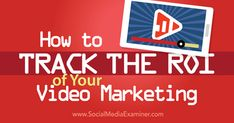 Are you struggling to measure the ROI of your marketing videos? Discover how to track and measure the ROI for your video marketing efforts. Marketing Software, Content Marketing Strategy, Marketing Tools, Internet Marketing, Digital Marketing, Marketing Videos, Viral Marketing, Social Media Roi, Social Media Marketing