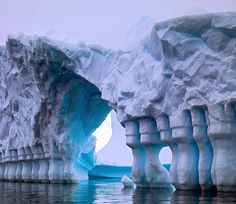 Columned Glacial Bridge, Antarctica---again not this trip, but this would take care of antartica :) Places Around The World, Oh The Places You'll Go, Places To Travel, Places To Visit, Around The Worlds, All Nature, Amazing Nature, Beautiful World, Beautiful Places