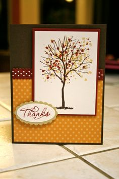 Stampin' Up Thanks card