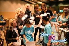 Bert's Big Adventure.  Hannah and Taylor Martin getting their t-shirts autographed by R5.  BBA2015