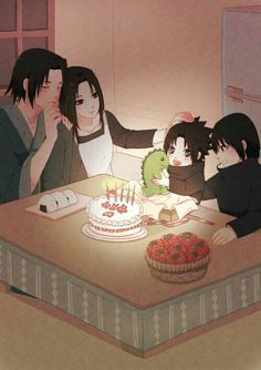 Fugaku, Mikoto, Itachi and Sasuke Anime Naruto, Uchiha Fugaku, Comic Naruto, Naruto Cute, Naruto Shippuden Sasuke, Naruto Shippuden Anime, Sarada Uchiha, Anime Chibi, Sasunaru