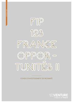 FIP 123 France Opportunités 2 commercialisé par 123 Venture