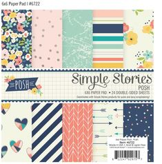 6x6 double-sided delights from the Simple Stories Posh collection #simplestories  #Posh