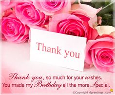 Happy Birthday Wishes, Images, Messages, Cards, Pictures and SMS. Send these best birthday wishes and birthday wishes images with messages and quotes Birthday Wishes Reply, Thank You For Birthday Wishes, Thank You Wishes, Birthday Thanks, Birthday Blessings, Happy Birthday Fun, Happy Birthday Greetings, Thank You Quotes For Birthday, Birthday Wishes Quotes