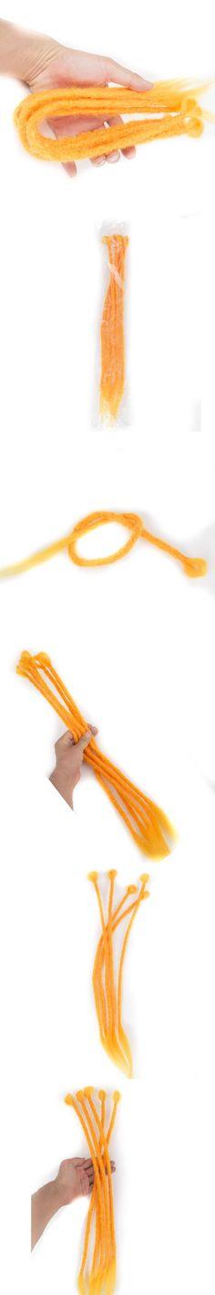 "qp hair 24""Soft Crochet braids Orange synthetic hair  handmade Braiding Hair dreadlocks Kanekalon Hair Extenstion"